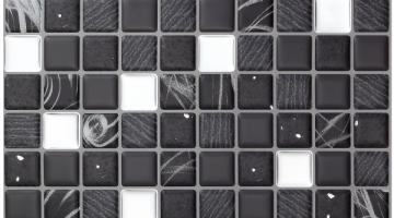 Mozaika Cosmos Negro_30x30
