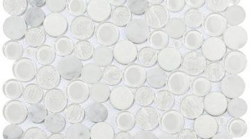Mozaika Planet White_30x30