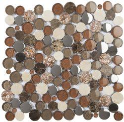 Mozaika Palnet Brown_30x30