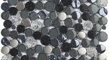 Mozaika Planet Black_30x30