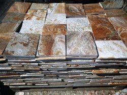 Laisvų gamtinių formų skaldytas akmuo gneisas ASH3 20 cm x FL