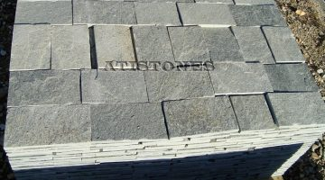 Laisvų gamtinių formų skaldytas akmuo gneisas BG3 15 cm x FL