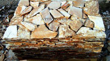Laisvų gamtinių formų skaldytas akmuo gneisas CD2