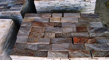 Laisvų gamtinių formų skaldytas akmuo  gneisas D3 10 cm x FL