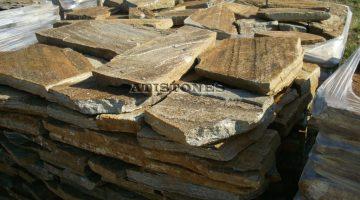 Laisvų gamtinių formų skaldytas akmuo gneisas D5