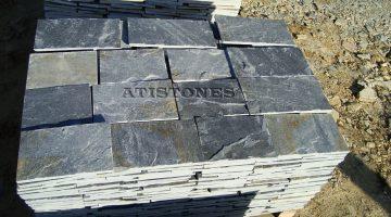 Laisvų gamtinių formų skaldytas akmuo gneisas F3 20 cm x FL
