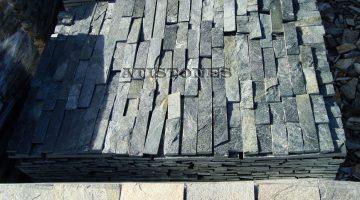 Laisvų gamtinių formų skaldytas akmuo gneisas F3 5 cm x FL