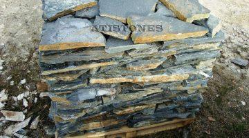 Laisvų gamtinių formų skaldytas akmuo gneisas F5
