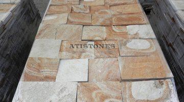 Laisvų gamtinių formų skaldytas akmuo gneisas G3 20 cm x FL