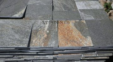 Laisvų gamtinių formų skaldytas akmuo gneisas H3 20 cm x FL