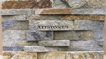 Laisvų gamtinių formų skaldytas akmuo gneisas Dekor. panelė H4P